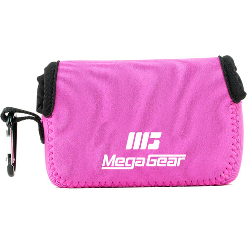 MegaGear Ultralight Neoprene Camera Case with Carabiner for Nikon COOLPIX A900 (Hot Pink)