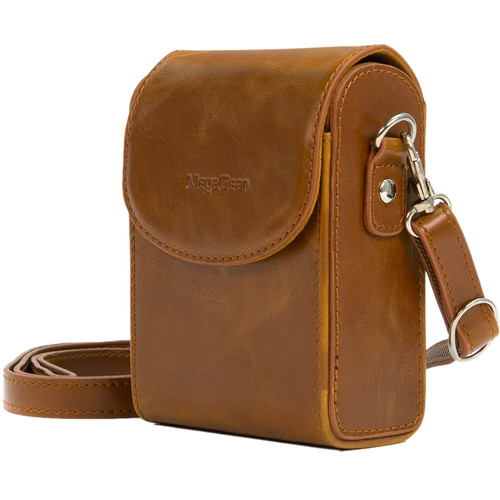 MegaGear Protective Leather Camera Case for Nikon COOLPIX A900 (Light Brown)