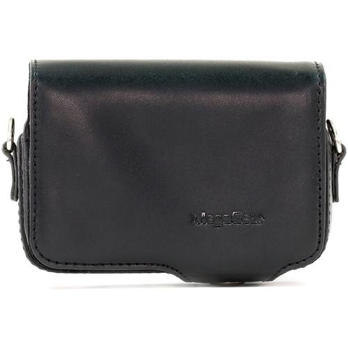 MegaGear PU Leather Case with Strap for Sony Cyber-shot DSC-HX95, HX99, HX80, HX90V, WX500 (Black)