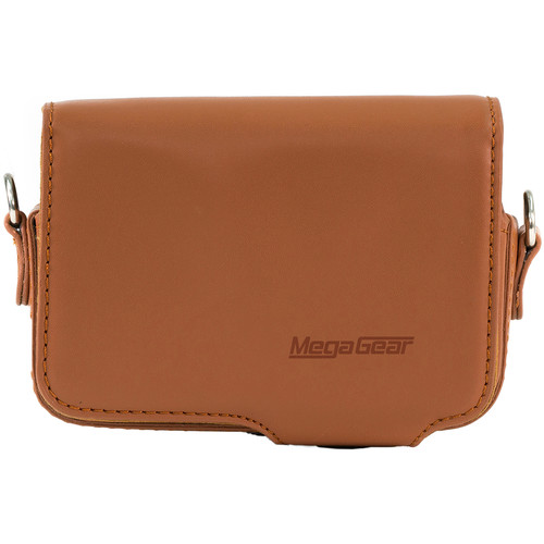 MegaGear Leather Case with Belt Loop for Select Sony Cyber-shot Cameras (Brown)