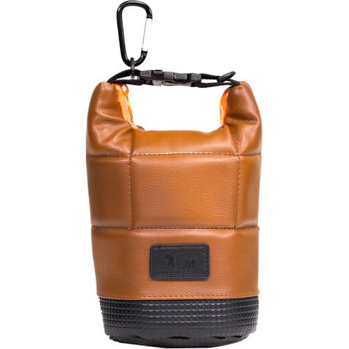 MegaGear Soft Lens Bag with Adjustable Handle for Medium-Sized Lenses (Brown)