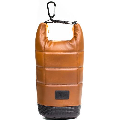 MegaGear Soft Lens Bag with Adjustable Handle for Large-Sized Lenses (Brown)
