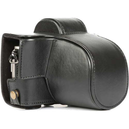 MegaGear MG917 Ever Ready Leather Case with Bottom Opening for Olympus PEN E-PL8 (Black)