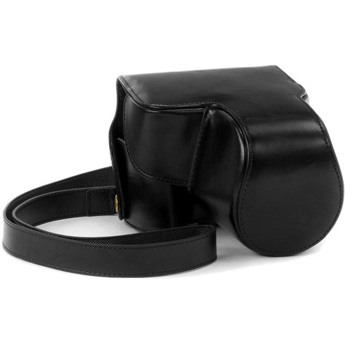 MegaGear Ever Ready Leather Camera Case for Nikon COOLPIX B700 (Black)