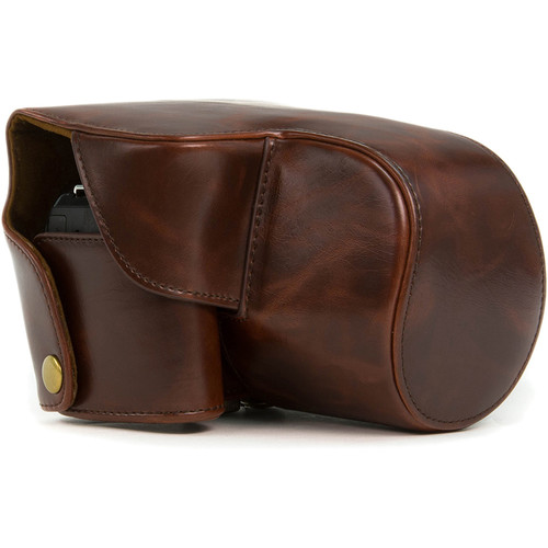 MegaGear Ever Ready Leather Camera Case for Nikon COOLPIX B700 (Dark Brown)