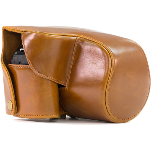MegaGear Ever Ready Leather Camera Case for Nikon COOLPIX B700 (Light Brown)