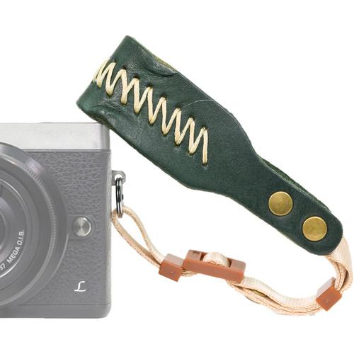 MegaGear PU Padded Leather Wrist Strap (Green)