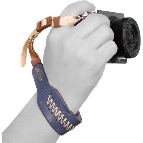 MegaGear PU Padded Leather Wrist Strap (Navy Blue)