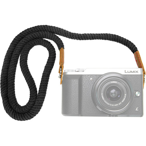 MegaGear Cotton Security Strap for All Cameras (Large, Black)