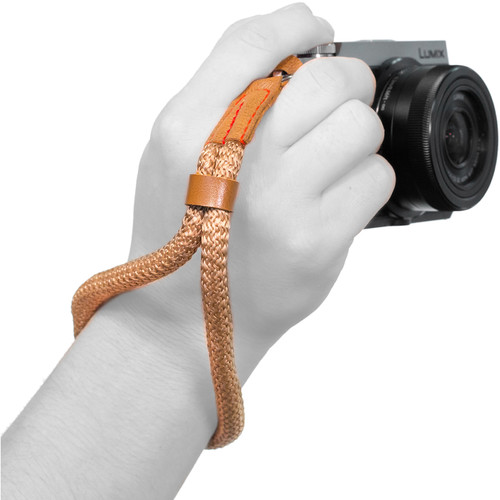 MegaGear Hand Wrist Cotton Security Strap for All Cameras (Small, Brown)