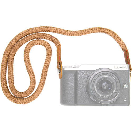 MegaGear Cotton Security Strap for All Cameras (Large, Brown)