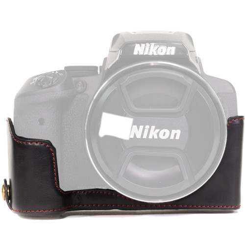 MegaGear Half-Bottom Ever Ready Case for Nikon COOLPIX P900/P900S (Black)
