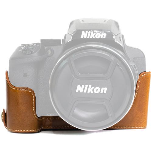 MegaGear Half-Bottom Ever Ready Case for Nikon COOLPIX P900/P900S (Light Brown)