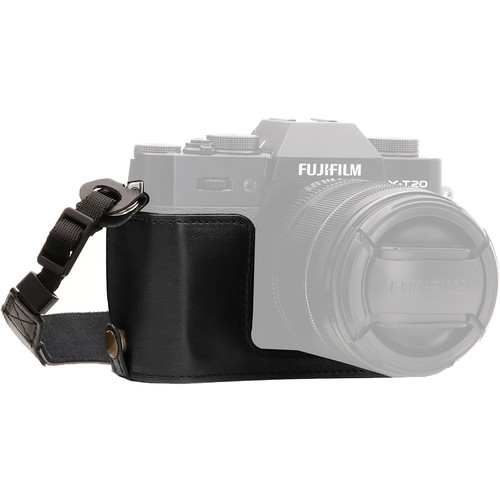 MegaGear MG957 Ever Ready PU Leather Case Bottom Opening for Fujifilm X-T10, X-T20 (Black)