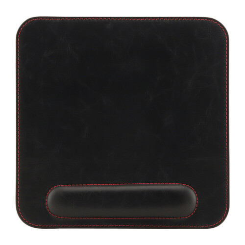 Londo Leather Mousepad with Wrist Rest (Black)