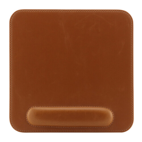 Londo Leather Mousepad with Wrist Rest (Light Brown)