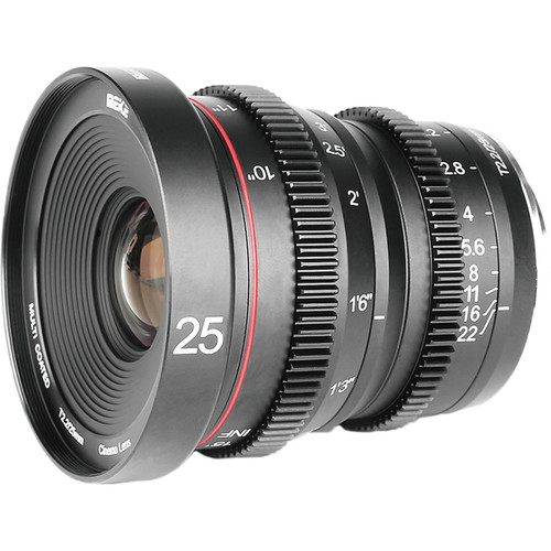 Meike 25mm T2.2 Manual Focus Cinema Lens (Fujifilm X Mount)