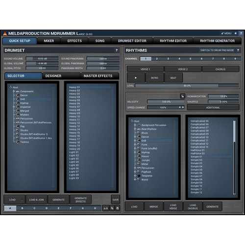 MeldaProduction MDrummer Large - Drum Machine and Virtual Drummer Software (Download)