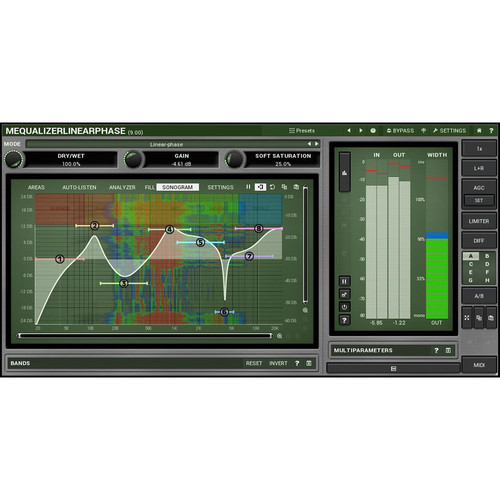 MeldaProduction MEqualizerLinearPhase - Linear Phase EQ Plug-In (Download)