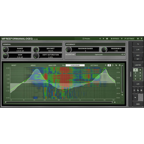 MeldaProduction MFreeFormAnalogEQ - Customizable Filter Shape Parametric EQ Plug-In (Download)