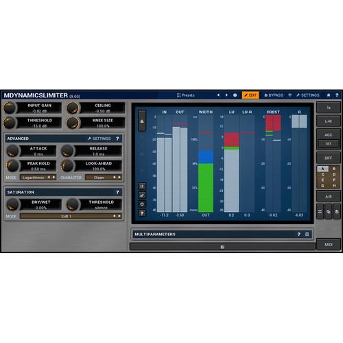 MeldaProduction MDynamicsLimiter - Transparent Loudness Plug-In (Download)