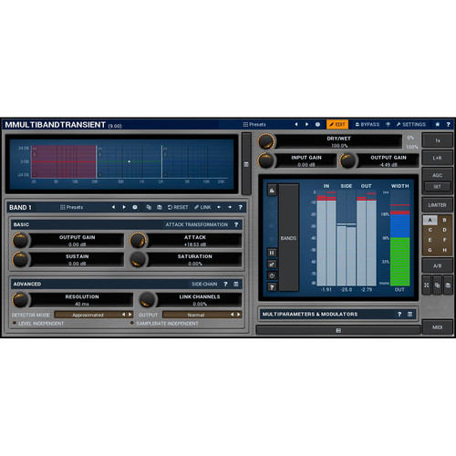 MeldaProduction MMultiBandTransient - Transient Adjustment Plug-In (Download)