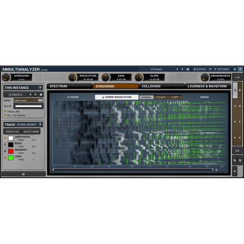 MeldaProduction MMultiAnalyzer - Multitrack Analyzer and Sonogram Plug-In (Download)
