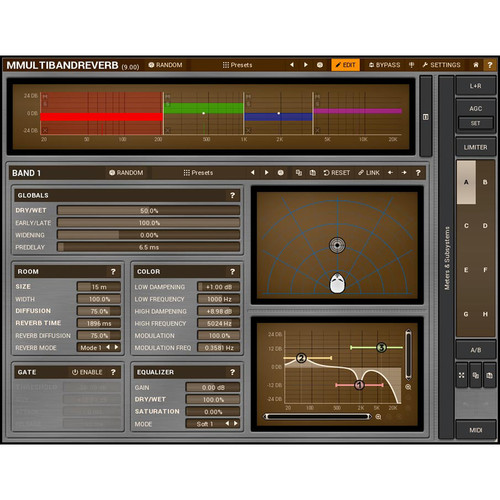 MeldaProduction MMultiBandReverb - Stereo Reverb Plug-In (Downlaod)
