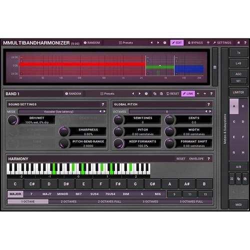 MeldaProduction MMultiBandHarmonizer - Pitch Shifting/Multi-Voice Harmonizing Plug-In (Download)