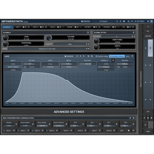 MeldaProduction MPowerSynth - Virtual Synthesizer (Download)