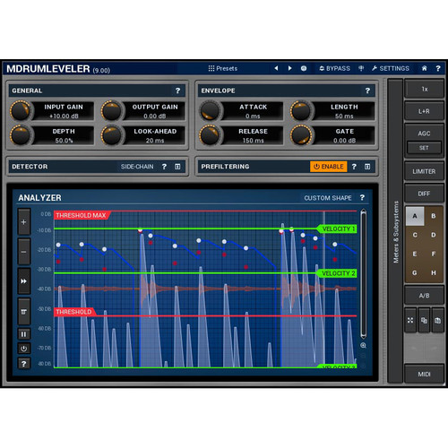 MeldaProduction MDrumLeveler - Drum and Percussion Processing Plug-In (Download)