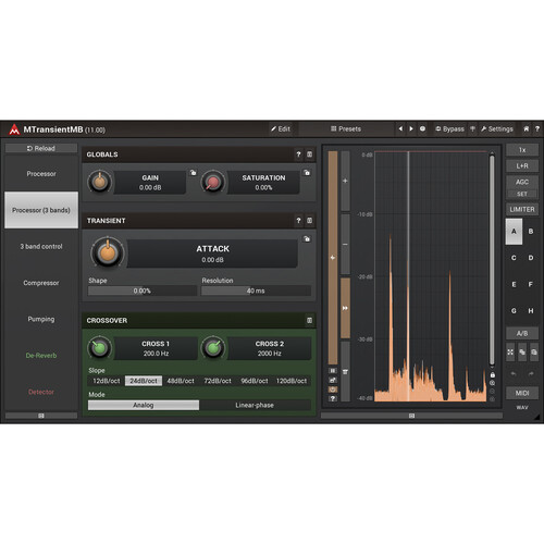 MeldaProduction MTransient - Transient Adjustment Plug-In (Download)