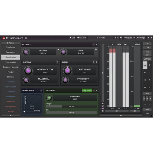 MeldaProduction MTransformer - Pitch- and Frequency-Shifter Plug-In (Download)