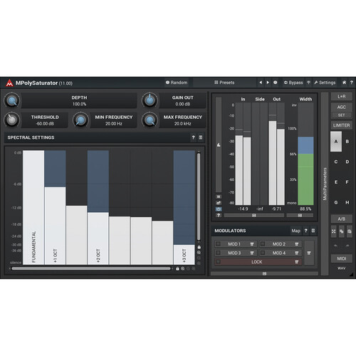 MeldaProduction MPolySaturator Spectral Saturation Plug-In (Download)