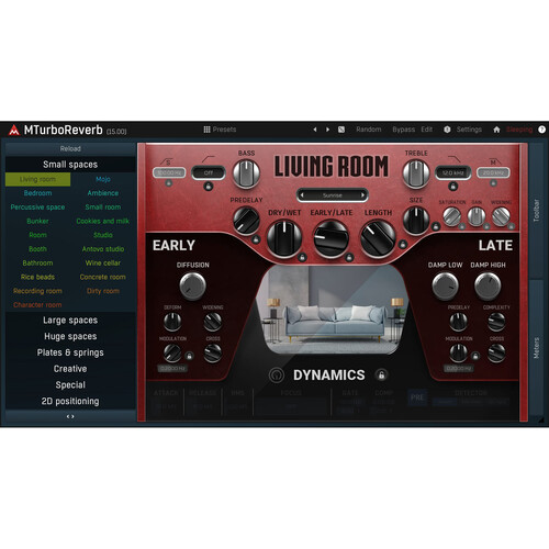MeldaProduction MTurboReverb Algorithmic Reverb Plug-In (Download)