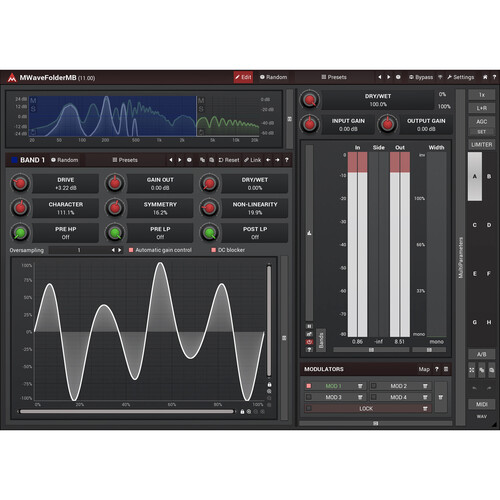 MeldaProduction MWaveFolderMB Multi-Band Distortion Plug-In (Download)