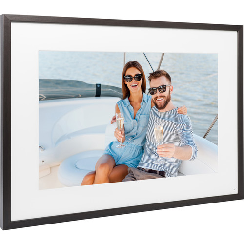 "Memento Electronics 35"" Smart Frame (Dark Brown)"
