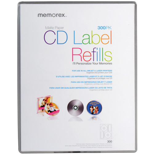 Memorex White Matte CD Labels (300 Pack)