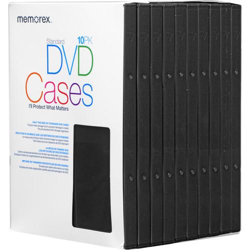 Memorex DVD Video Cases (10-Pack, Black)
