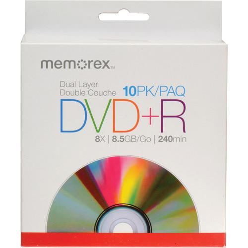 Memorex DVD+R Double Layer Discs (10-Pack, Slimline Jewel Case)