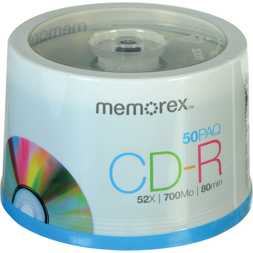 Memorex CD-R Discs (Spindle, 50-Pack)