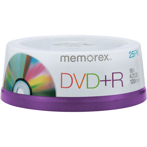Memorex DVD+R Single Sided Recordable Discs (Spindle, 25-Pack)