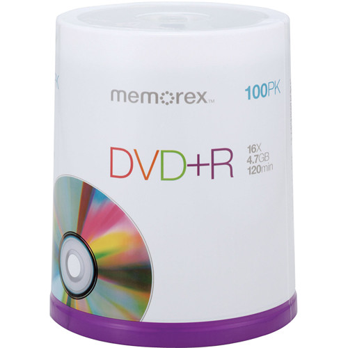Memorex DVD+R Single Sided Recordable Discs (Spindle, 100-Pack)