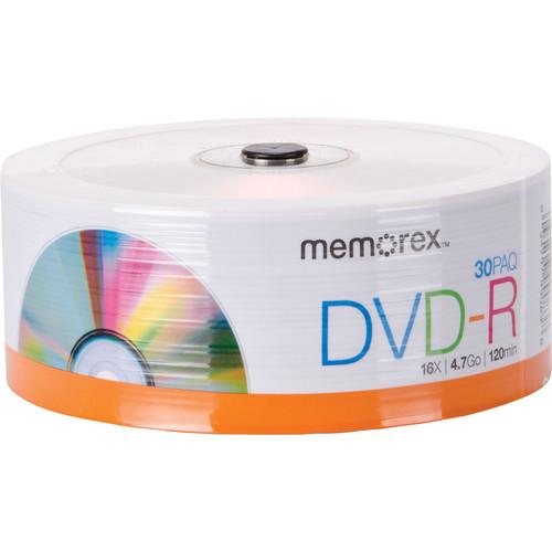 Memorex DVD-R 4.7GB 16x Disc (Spindle Pack of 30)