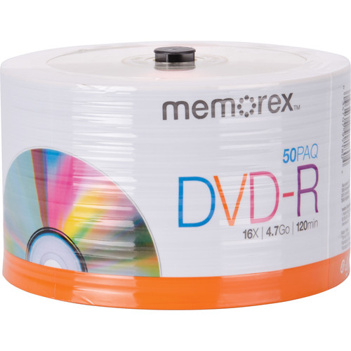 Memorex DVD-R 4.7GB 16x Disc (Spindle Pack of 50)