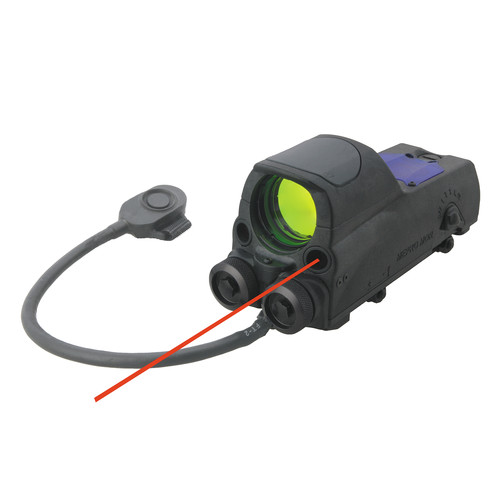 MEPROLIGHT LTD 1x30 Mepro MOR Reflex Sight with Red Laser (Bulls-Eye Reticle)