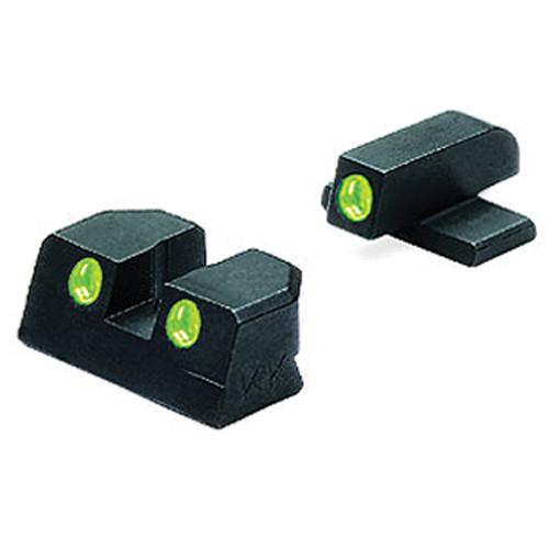MEPROLIGHT LTD Tru-Dot Tritium Night Sight Set for Sig Sauer 9mm / .357 (Green / Green)