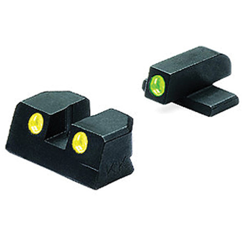 MEPROLIGHT LTD Tru-Dot Tritium Night Sight Set for Sig Sauer 9mm / .357 (Yellow / Green)