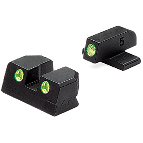 MEPROLIGHT LTD Tru-Dot Tritium Night Sight Set for Sig Sauer .40/.45 ACP (Green / Green)