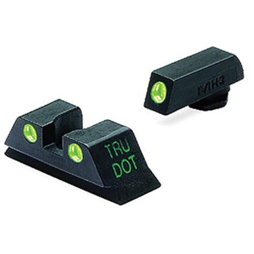 MEPROLIGHT LTD Tru-Dot Tritium Night Sight Set for Glock 10mm/.45ACP (Green / Green)